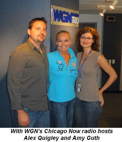 With WGN's Chicago Now radio hosts Alex Quigley and Amy Guth