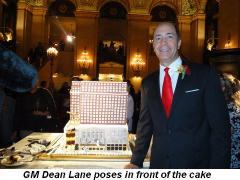 Blog 7 - GM Dean Lane poses in front of cake