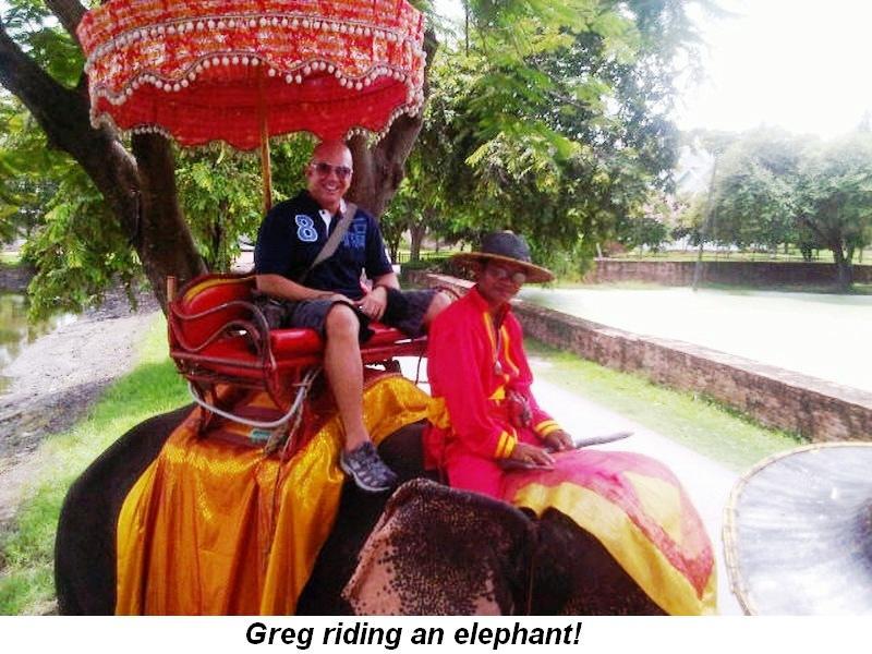 Blog 2 - Greg riding elephant