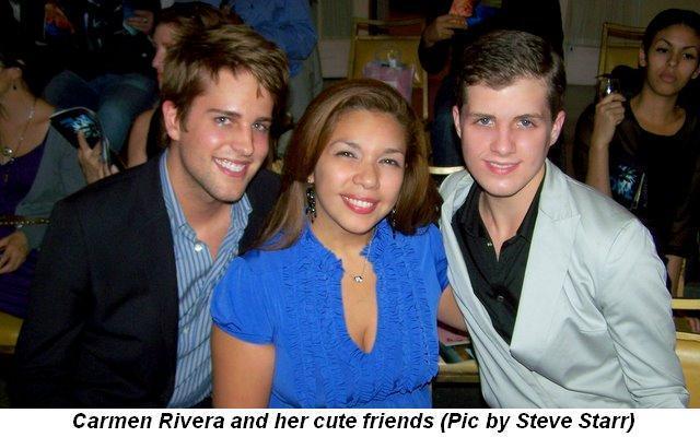 Blog 3 - Carmen Rivera and cute friends. (Pic by Steve Starr)