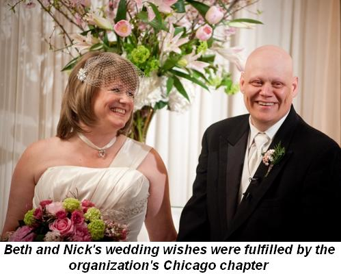 Blog 2 - Beth and Nick's wedding wishes were fulfilled by the Chicago chapter