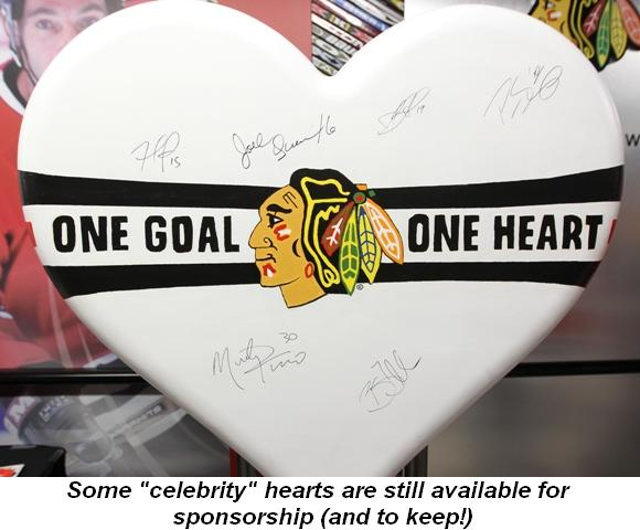 """Blog 4 - Some """"celebrity"""" hearts are still available for sponsorship (and to keep!)"""