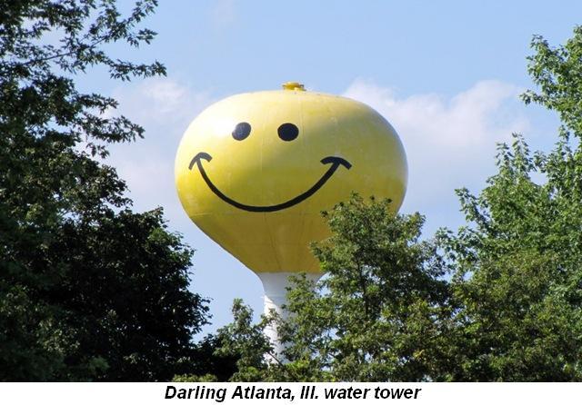 Blog 2 - Darling Atlanta, Ill., water tower