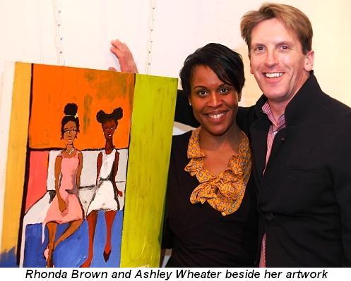 Blog 5 - Rhonda Brown and Ashley Wheater beside her artwork