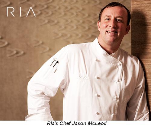 Blog 3 - Ria's Chef Jason McLeod