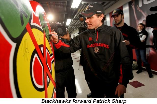 Blog 5 - Blackhawk's forward Patrick Sharp
