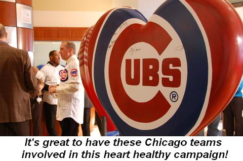 Blog 6 - It's great to have these Chicago teams involved in this heart healthy campaign!