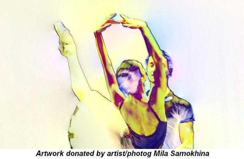 Blog 2 - Artwork donated by artist-photog Mila Samokhina
