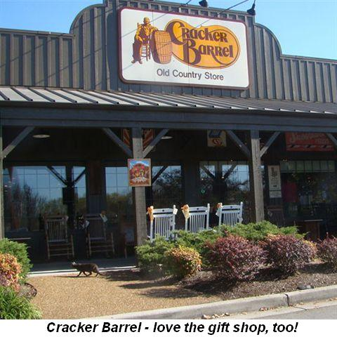 Blog 6 - Cracker Barrel—love the gift shop too!