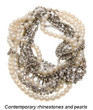 Blog 2 - Contemporary rhinestone and pearls