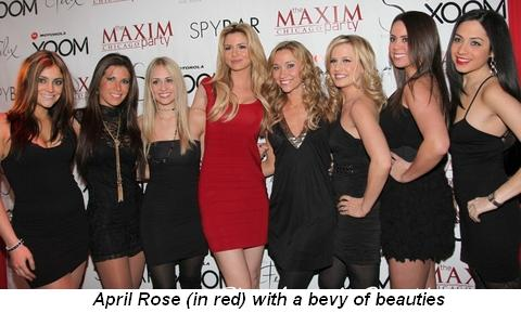 Blog 1 - April Rose (in red) with a bevy of beauties