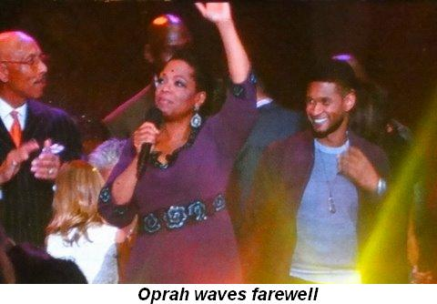 Blog 36 - Oprah waves farewell