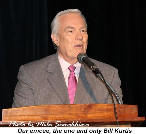 Blog 7 - Our emcee, the one and only Bill Kurtis