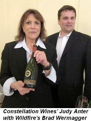 Blog 8 - Constellation Wines' Judy Anter with Wildfire's Brad Wermagger