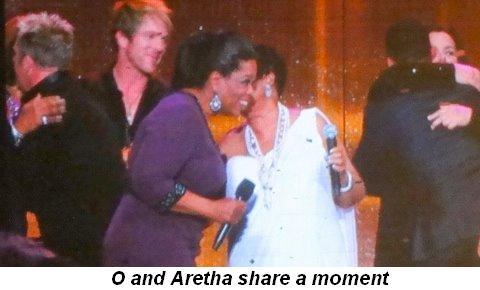 Blog 41 - O and Aretha share a moment
