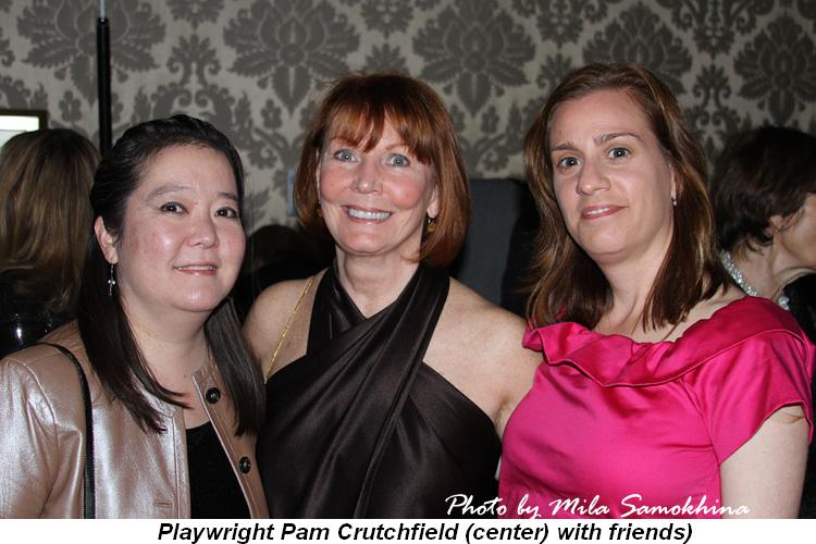 Blog 6 - Playwright Pam Crutchfield (center) with friends