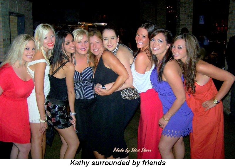 Blog 2 - Kathy surrounded by friends