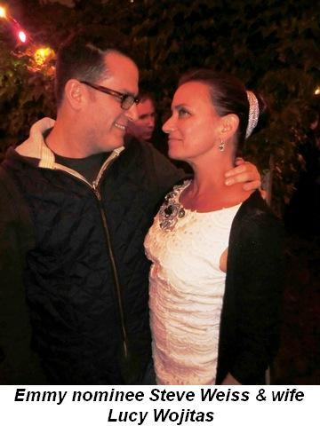 Emmy nominee, Zacuto's Steve Weiss and wife Lucy Wojitas