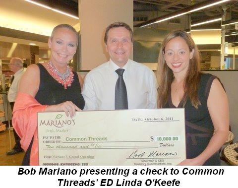 Blog 3 - Bob Mariano presenting check to Common Threads ED Linda O'Keefe