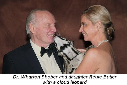 Blog 4 - Dr. Wharton Shober, a cloud leopard and daughter Reute Butler