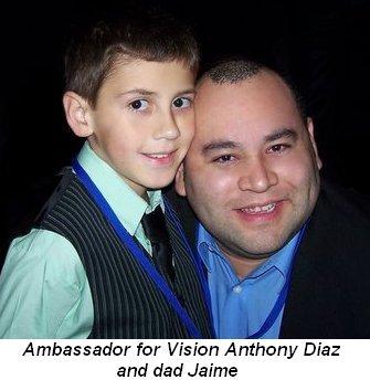 Blog 2 - Ambassador for Vision Anthony Diaz and dad Jaime