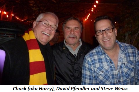Blog 3 - Chuck (aka Harry), David Pfendler and Steve Weiss