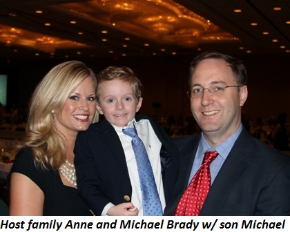 Blog 1 - Host family Anne and Michael Brady with son Michael