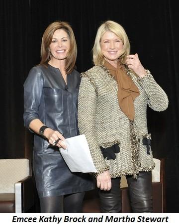 Blog 5 - Emcee Kathy Brock and Martha Stewart