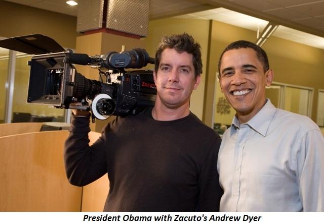 President Obama and Zacuto's Andrew Dryer