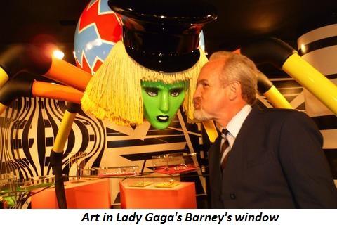 Blog 1 - Art in Gaga;s Barney's window