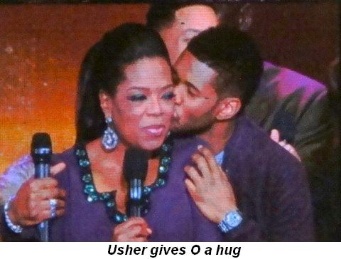 Blog 37 - Usher gives O a hug