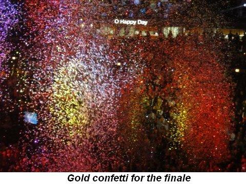 Blog 42 - Gold confetti for the finale