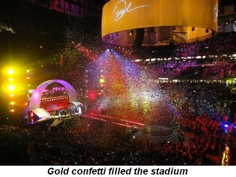 Blog 43 - Gold confetti filled the stadium
