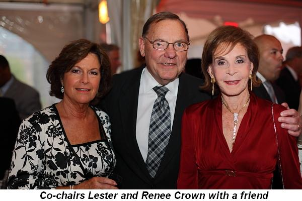 Blog 1 - Co-Chairs Lester and Renee Crown with friend