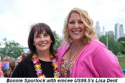 Blog 3 - Bonnie Spurlock with emcee US99.5's Lisa Dent