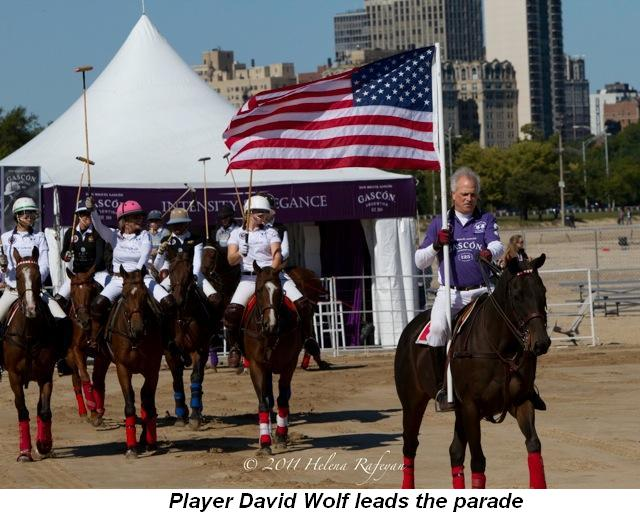 Blog 1 - Player David Wolf leads the parade