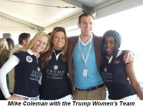 Blog 2 - Mike Coleman with the Trump Women's Team