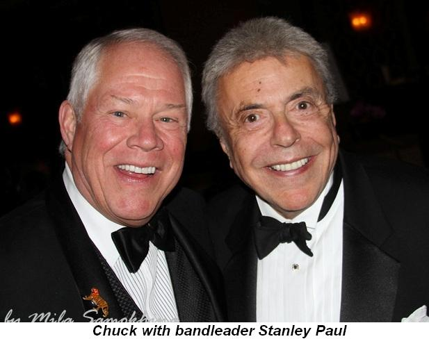 Blog 17 - Chuck with bandleader Stanley Paul