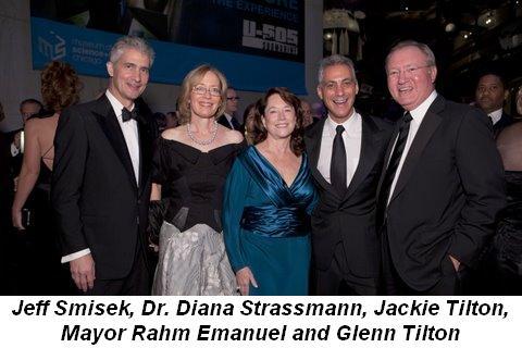 Blog 1 - Ball co-chairs Jeff Smisek, Dr. Diana Strassmann, Jackie Tilton, Mayor Rahm Emanuel and Glenn Tilton