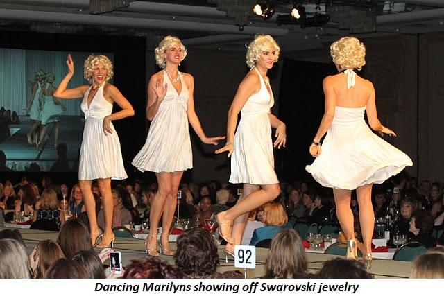Blog 8 - Dancing Marilyns showing off Swarovski jewelry