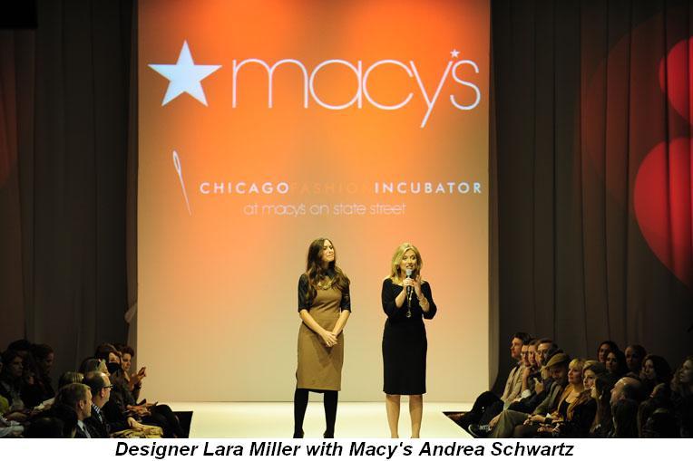 Blog 3 - Macy's Andrea Schwartz (R) and designer Lara Miller
