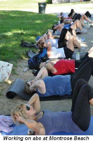 Blog 3 - Working on abs at Montrose Beach