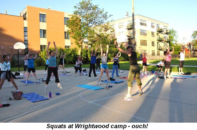 Blog 5 - Squats at Wrightwood camp, ouch!