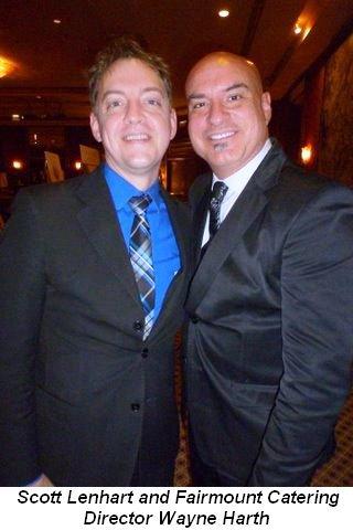 Blog 6 - Scott Lenhart and Fairmont Catering Director Wayne Harth