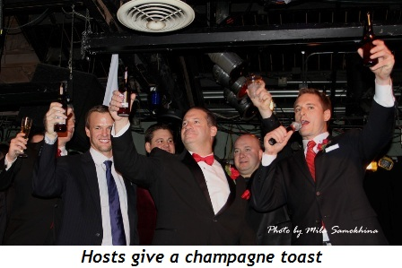 Blog 4 - Hosts give a champagne toast
