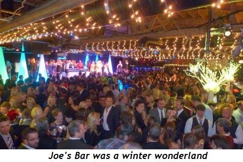 Blog 8 - Joe's Bar was a Winter Wonderland