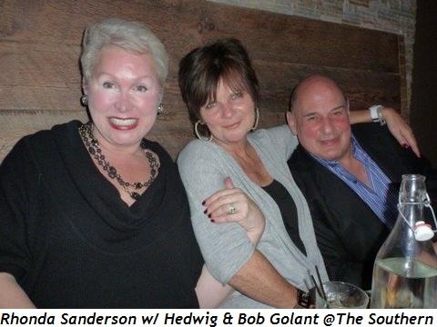 Blog 2 - Rhonda Sanderson, Hedwig and Bob Golant at The Southern