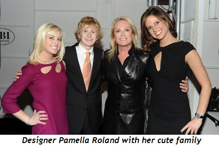 Blog 2 - Designer Pamella Roland with her cute family