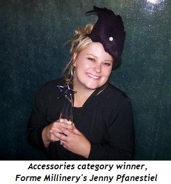 Blog 5 - Accessories category winner, Forme Millinery's Jenny Pfanenstiel