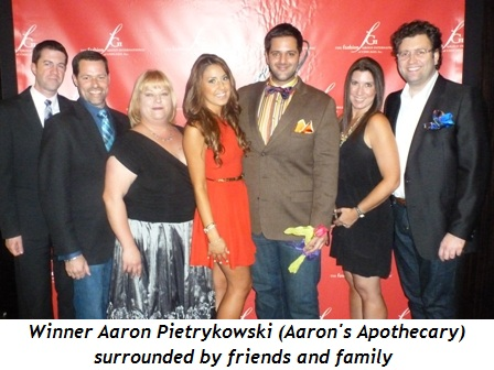 Blog 10 - Winner Aaron Pietrykowski (Aaron's Apothecary) surrounded by friends and family